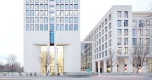 Skylobby der UBS im Opernturm